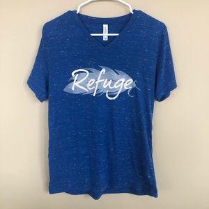 Blue short sleeve shirt Bella Canvas size medium
